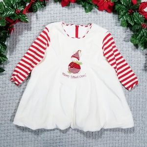Baby girl warm Bunnies by the Bay Christmas dress